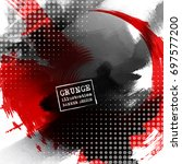 red and black abstract... | Shutterstock .eps vector #697577200