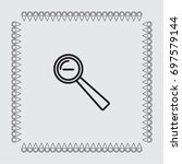loupe icon  zoom out vector...