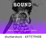 music melody rhythm sound song... | Shutterstock . vector #697579408