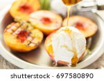 Organic Grilled Peaches With...