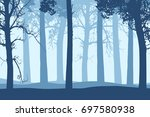vector illustration of blue... | Shutterstock .eps vector #697580938