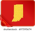 map of indiana | Shutterstock .eps vector #697595674