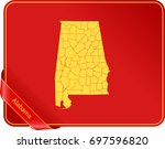 map of alabama | Shutterstock .eps vector #697596820