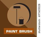 paint brush icon vector | Shutterstock .eps vector #697605028