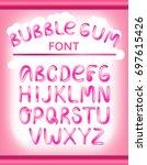 font set with full alphabet....   Shutterstock .eps vector #697615426