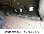 tent shelter with temporary... | Shutterstock . vector #697618279