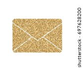 letter of mail icon with... | Shutterstock .eps vector #697628200