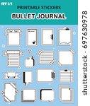 vector set of graphic stickers. ... | Shutterstock .eps vector #697630978