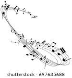 music notes | Shutterstock .eps vector #697635688