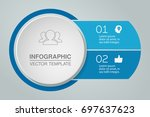 vector infographic template for ... | Shutterstock .eps vector #697637623