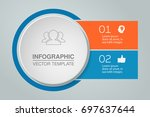 vector infographic template for ... | Shutterstock .eps vector #697637644