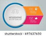 vector infographic template for ... | Shutterstock .eps vector #697637650
