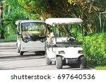 modern buggies at tropical...   Shutterstock . vector #697640536