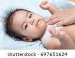 little kids sleeping on the... | Shutterstock . vector #697651624