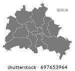 berlin city map with boroughs...
