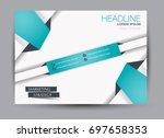 flyer  brochure  billboard... | Shutterstock .eps vector #697658353