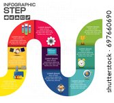 business steps timeline... | Shutterstock .eps vector #697660690