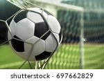 soccer world cup. the ball is... | Shutterstock . vector #697662829