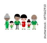 asian three generation family... | Shutterstock .eps vector #697662910