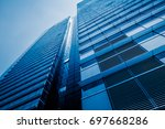 urban abstract   windowed... | Shutterstock . vector #697668286