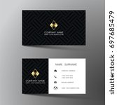 modern business card design... | Shutterstock .eps vector #697685479