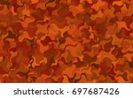 light multicolor vector crooked ... | Shutterstock .eps vector #697687426