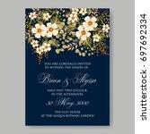 hibiscus  anemone  poinsettia  ... | Shutterstock .eps vector #697692334