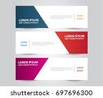 set of modern colorful banner... | Shutterstock .eps vector #697696300