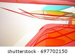 abstract architectural interior ... | Shutterstock . vector #697702150