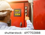 industrial fire control system... | Shutterstock . vector #697702888