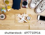 outfit and accessories of... | Shutterstock . vector #697710916