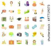 good career icons set. cartoon...   Shutterstock .eps vector #697719073