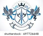 vintage heraldry design...   Shutterstock . vector #697726648