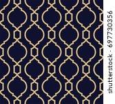 abstract pattern in arabian... | Shutterstock .eps vector #697730356