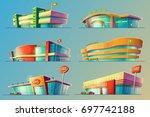 set of vector cartoon... | Shutterstock .eps vector #697742188