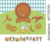 vector set oktoberfest.... | Shutterstock .eps vector #697755193
