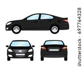 car vector template on white... | Shutterstock .eps vector #697764328