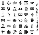 coherence in work icons set.... | Shutterstock .eps vector #697765150