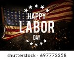 Small photo of Happy Labor day banner, american patriotic background