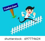 businessman jumping out of... | Shutterstock .eps vector #697774624