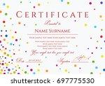 certificate  diploma of... | Shutterstock .eps vector #697775530