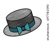 hat accessory icon  | Shutterstock .eps vector #697781590