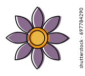 beautiful flower icon | Shutterstock .eps vector #697784290