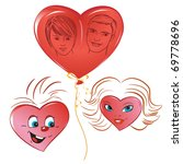 set of hearts air balloon in... | Shutterstock .eps vector #69778696