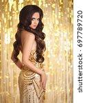 elegant gorgeous brunette in...   Shutterstock . vector #697789720