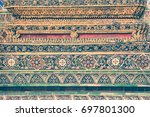 grand palace architecture in... | Shutterstock . vector #697801300