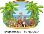 vector illustration of a set of ... | Shutterstock .eps vector #697802014