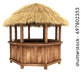 Wooden Counter Kiosk With...