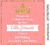 birthday party invitation | Shutterstock . vector #697807090