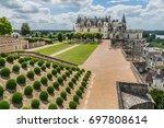 amazing garden near chateau d... | Shutterstock . vector #697808614